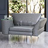 Cafe Unique Chair with Left Side Table - Grey