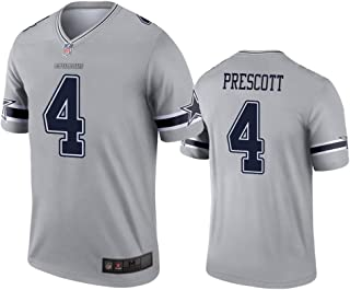 Mens Dallas Cowboys #4 Dak Prescott 2019 Inverted Legend Jersey - Gray