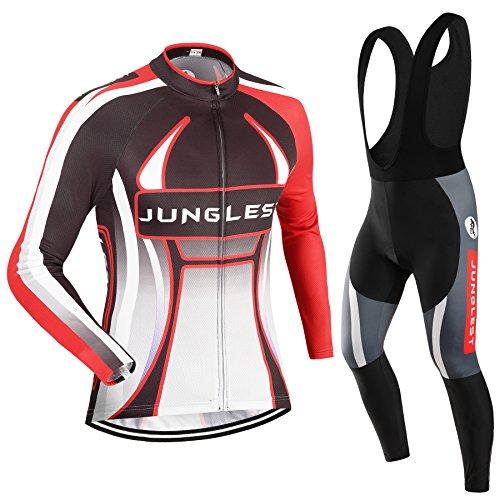 (Cojín 3D)(traje(Forro polar & tirante negro) tamaño:5XL) Hombre Ciclismo Ropa Maillots Pantalones pantalón Set Conjunto jerseys
