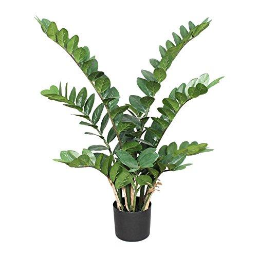 Kunstpflanze Zamifolia mit ca. 166 Blättern, im Kunststofftopf, ca. 90 cm