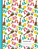 Aloha Hawaiian Summer Vacation Notebook Wide Ruled Paper: 200 Lined Pages, Large Composition 8.5 x 11 Writing Journal, School Teachers, Students Exercise Subject Book, Music Of Hawaii [Idioma Inglés]