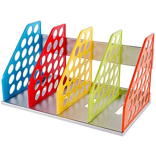 tellaLuna Organizador de escritorio para oficina en casa para almacenamiento de carpetas de escritorio, organizador de escritorio de colores, bandeja de cartas, estante de almacenamiento de documentos
