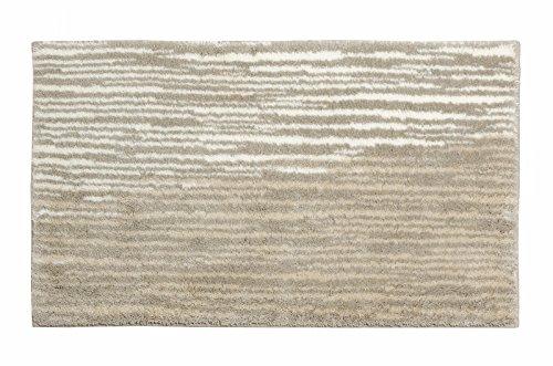 SCHÖNER WOHNEN-Kollektion, Mauritius, Badteppich, Badematte, Badvorleger, Design Streifen - creme, Oeko-Tex 100 zertifiziert, 60 x 100 cm