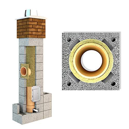 Keramik Schornstein 7.0 m Ø 180 Firend Universal Isoliert Massiv Bausatz Kamin