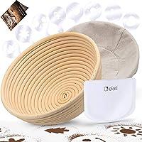 Chefast 9.5 Inch Natural Rattan Banneton Proofing Basket Set