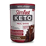 SlimFast Keto Meal Replacement Shake Powder - Fudge Brownie Batter - 13.4 Oz. - 10 Servings - Pantry Friendly