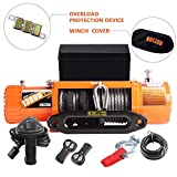 ORCISH 13000lb IP67 Waterproof Winch Synthetic Rope Electric Jeep Truck Winches