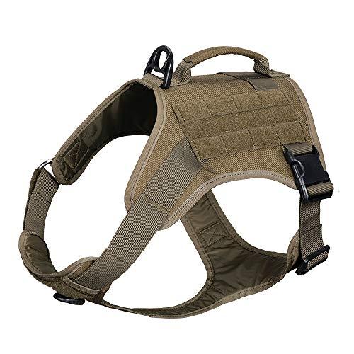 EXCELLENT ELITE SPANKER Hundegeschirr No-Pull Brustgeschirr Einstellbare für Mittlere Große Hunde(Olivgrün-S)
