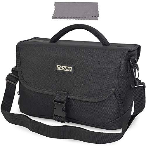 CADeN Medium Camera Bag Case Shoulder Messenger Bag Compatible for Nikon, Canon, Sony, DSLR SLR Waterproof Black