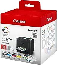 Canon PGI-2500XL - Cartuchos de tóner, negro, azul, magenta y amarillo