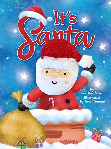 It's Santa - Oversized Finger Puppet Book - Novelty Book - Children's Board Book - Interactive Fun Child's Book - Christmas Kid's Book