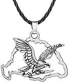Aluyouqi Co.,ltd Collar Collar Hueco Nube Cuerda Collar para Mujeres Hombres Águila Punk Cadena Larga Colgante Collares Joyería Hecha A Mano