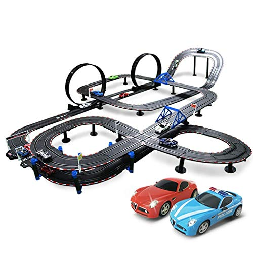 Buy Learning & Activity Toys Children's Rail car Toy Remote Track car Double Track Racing Toy Parent...