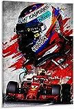 Foto Auf Leinwand 50x70cm Kein Rahmen Kimi Räikkönen