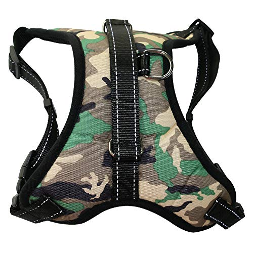 Hellopet Dog Harness No-Pull Reflective Adjustable Outdoor Pet Vest Oxford Fabirc for Small Medium Large Dogs