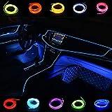 Kmruazre El Wire 3m/9ft 12V Neon El Lights corda Neon Glowing Strobing Filo elettroluminescente Luci al neon per decorazioni da giardino Luci a corda (Blu)