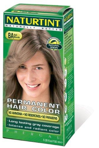 Naturtint Coloration capillaire naturelle permanente - Ingrédients végétaux actifs - 100% couvrant - Couleur 8A Blond cendré
