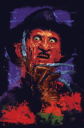 Freddy Krueger Abstract Contemporary Nightmare on Elm Street Print, 11 x 17 Poster, Robert Englund Horror Movie Pop Art