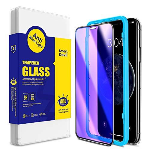 SmartDevil 【2-Pezzi Pellicola Protettiva per Compatibile con iPhone11 PRO/iPhone X/XS,【Anti Luce Blu】【Protezione degli Occhi】 Pellicola Vetro Temperato iPhone11 PRO/iPhone X/XS