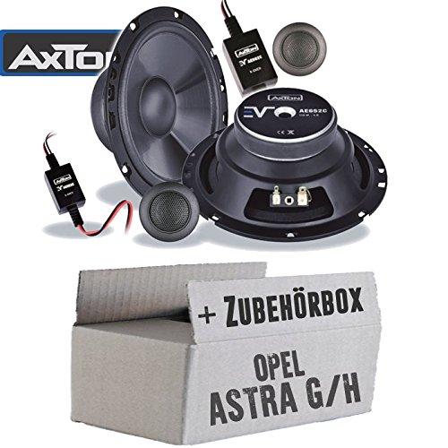 Lautsprecher Boxen Axton AE652C | 16cm 2-Wege Auto Einbauzubehör - Einbauset für Opel Astra G+H, Tür vorne - JUST SOUND best choice for caraudio