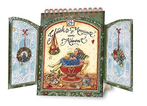 24 Glücks-Momente im Advent: Tisch-Adventskalender mit Fensterflügeln