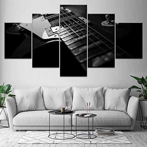 La guitarra eléctrica 5 piezas HD lienzo impresión arte moderno cartel modular pintura artística para sala de estar decoración del hogar-Los 40x60 los 40x80 los 40x100cm