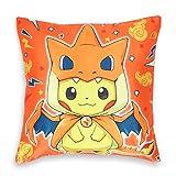 SmartKey Pokemon Deko Kissenbezug 50x50cm, Motiv: Pikachu