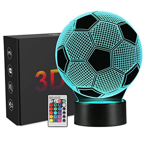 Linkax 3D LED Licht Nachtlicht Optische Täuschung Lampe Schreibtischlampe Tischlampe Nachtlicht 7 Farbfernbedienung mit Acryl-Ebene und ABS Basis und USB-Ladegerät