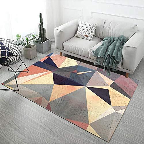 Kunsen habitacion Juvenil alfombras de Gateo Alfombra de Sala de Estar Colorido patrón geométrico combinación de Colores Suave alfombras a Medida Online 200X300CM 6ft 6.7' X9ft 10.1'