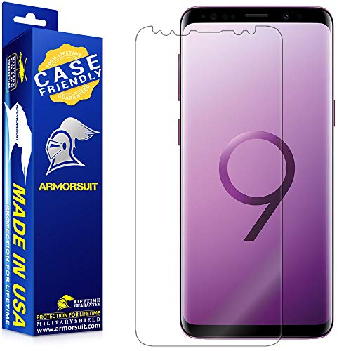 ArmorSuit MilitaryShield Screen Protector Designed For Samsung Galaxy S9 (Case Friendly) Anti-Bubble HD Clear Film