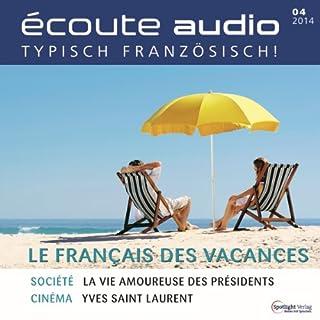 Écoute audio - Le français pour les vacances. 4/2014 Titelbild