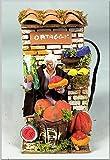 PERAGASHOP Bottega con hortalizas con movimientos, 10 cm, figura clásica para Belén
