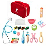 perfecthome 15PCS Kids Doctor Kit Juego De Simulación Doctor Set Kit De Primeros Auxilios De Madera Equipo para Regalo Infantil