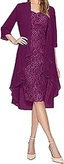 Ubrania Damskie Damska Dwuczęściowa Urocza Sukienka Panna Młoda Koronkowe Sukienki Z Długim Rękawem Koronkowy Patchwork