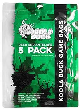 Koola Buck 5-Pack Reusable Hunting Game/Meat Bags - 5-Pack 50  Large Quarter Bags - Wild Game  Deer Elk Moose Carabou Antelope & Hogs