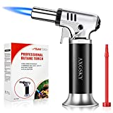 DLYM Butane Torch Lighters, kitchen torch Refillable Adjustable Flame Kitchen Torch with Safety Lock...