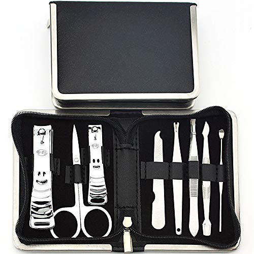 NNNQO Finger & Toe Nail Care Scissors Clipper Fashion Leather Case in Gift Box Voyage Kit de Toilettage Cadeau pour Femmes Hommes Amis Parents Manucure Pack de manucure