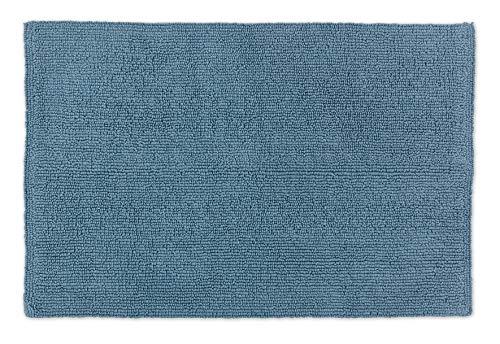 Schöner Wohnen Badteppich – beidseitig verwendbar – waschbar – 100% Baumwolle – einfarbig – hellblau – 40 x 60 cm