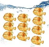 DAGONGJI 10 Piezas de Peces de Limpieza de Tanque Humidificador Universal, Limpieza Portátil Herramientas de Tanque de Pescado Compatible con Humidificadores de Niebla Cálidos y Fríos Yellow