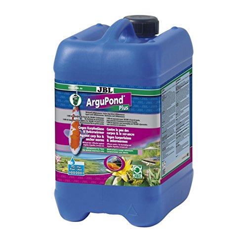 JBL ArguPond Plus 27134 Heilmittel gegen Karpfenläuse und Ankerwürmer bei Teichfischen, 5 l