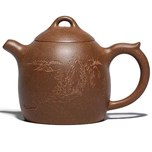 Tetera de arcilla púrpura tetera hecha a mano hervidor mineral crudo Teaware té chino ceremonia