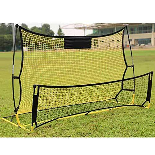 Red de rebote para fútbol, 195 x 118 x 90 cm, portátil y estable