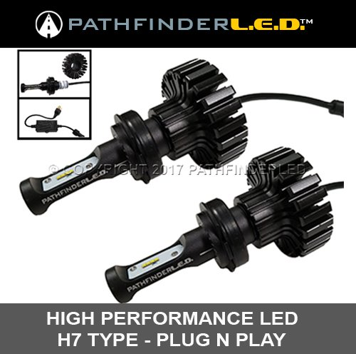 Pathfinder H7 LED Headlight Replacement Bulbs for Honda GL1800 & F6B