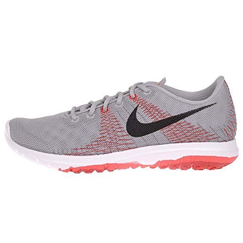 Nike Boys Flex Fury Element Running Shoe Wolf Grey/Bright Crimson/University Red/Black 5.5