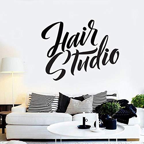 Calcomanía de pared para estudio de cabello, salón de belleza, manicura, arte, Mural, vinilo, pegatina de pared, moda para mujer, ventana, salón de vidrio, decoración de palabras