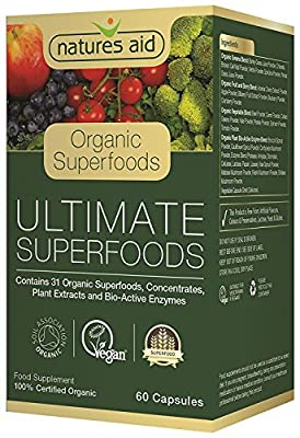 Natures Aid Organic Ultimate Superfoods 60 Capsules - 2 Pack