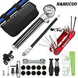 NAMUCUO Bike Tyre Repair Tool Kit - Bicycle Tool kit with 210 Psi Mini Pump 10-in-1 Multi-Tool(with Chain Breaker),3...
