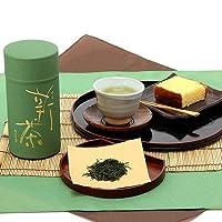 京都 老舗 堀井七茗園 宇治新茶 「宇治みどり(和紙張り缶入)150g」