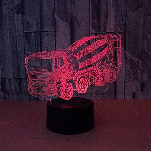 3D Blender Model Nacht Licht Illusie Lamp 7 Kleur Veranderend, met Afstandsbediening met USB-kabel voor Kerstmis Verjaardag Kinderen Geschenken, Slaapkamer Decoratie, Office Decoratie