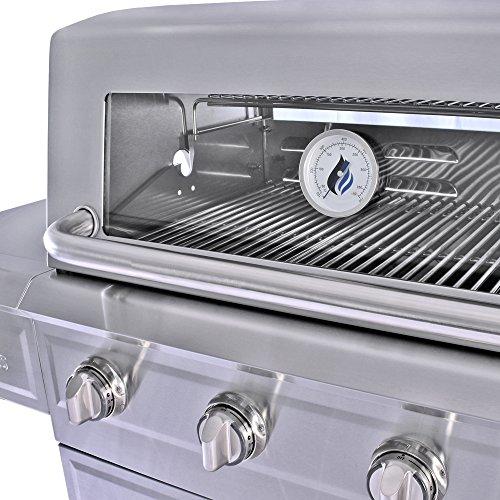 3 Embers 4-Burner Dual Fuel Propane Gas Grill...